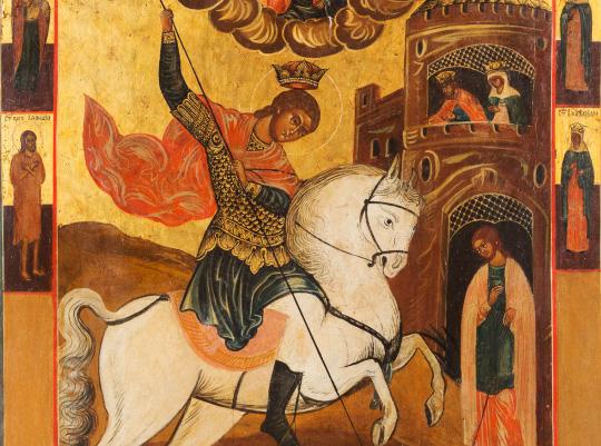 По субботам в храме будет служиться молебен Георгию Победоносцу